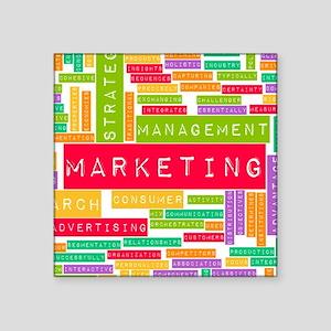 "Branding and Marketing Square Sticker 3"" x 3"""