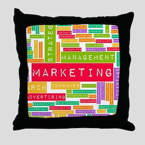 Branding and Marketing Throw Pillow