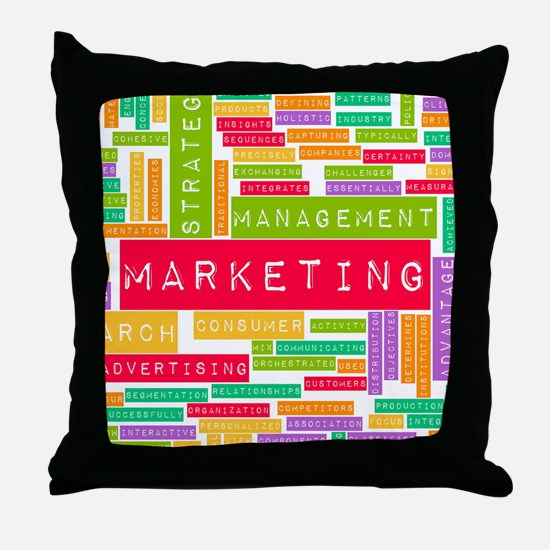 Branding and Marketing Throw Pillow