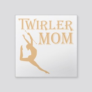 "TWIRLER MOM Square Sticker 3"" x 3"""