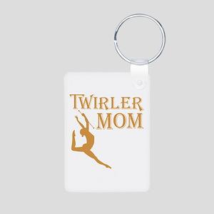 TWIRLER MOM (both sides) Aluminum Photo Keychain