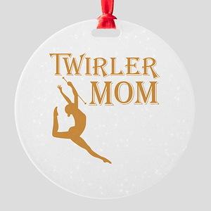 TWIRLER MOM Round Ornament