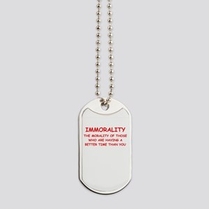 immorality Dog Tags