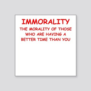 immorality Sticker