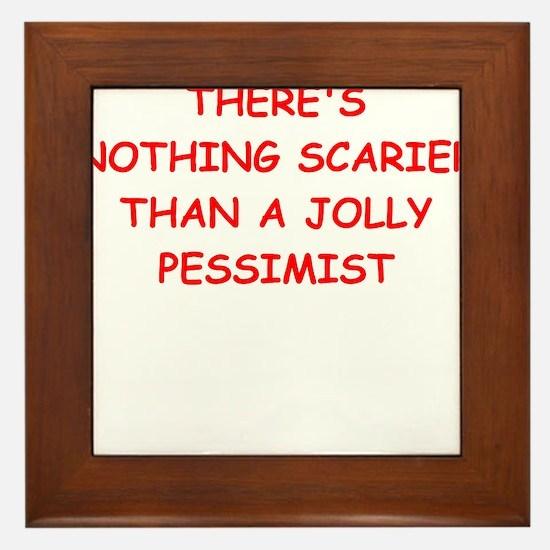 pessimist Framed Tile