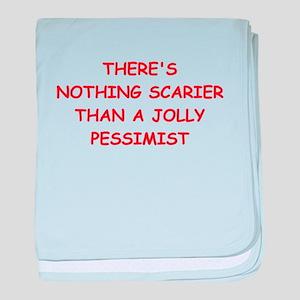 pessimist baby blanket