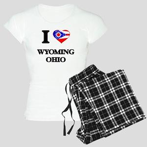 I love Wyoming Ohio Women's Light Pajamas