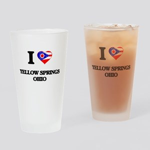 I love Yellow Springs Ohio Drinking Glass