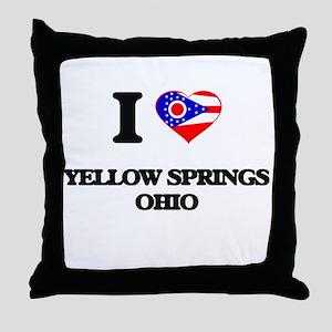 I love Yellow Springs Ohio Throw Pillow