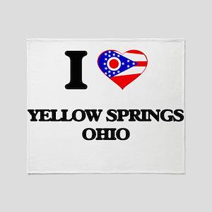 I love Yellow Springs Ohio Throw Blanket