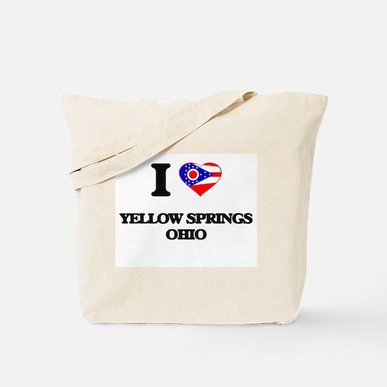 I love Yellow Springs Ohio Tote Bag