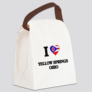 I love Yellow Springs Ohio Canvas Lunch Bag