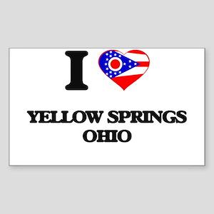 I love Yellow Springs Ohio Sticker