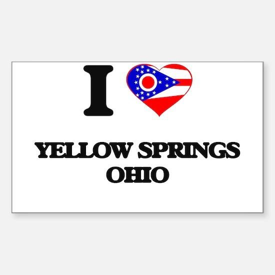 I love Yellow Springs Ohio Decal