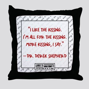 MORE KISSING Throw Pillow
