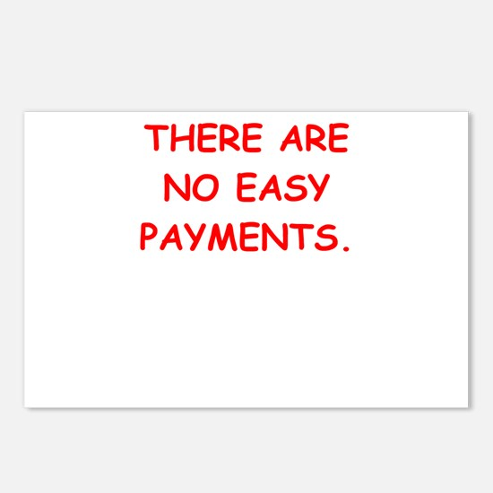 easy payments Postcards (Package of 8)