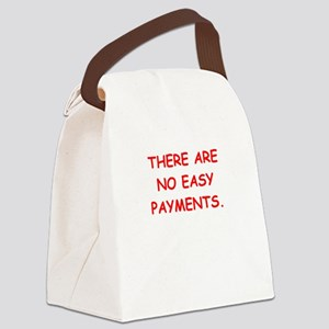 easy payments Canvas Lunch Bag
