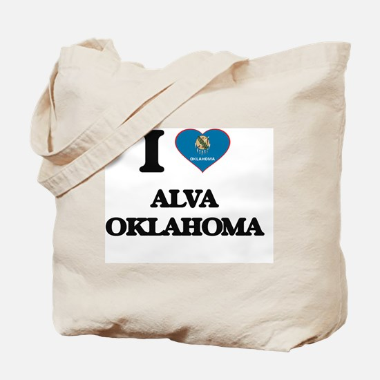 I love Alva Oklahoma Tote Bag