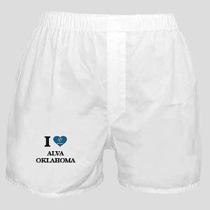 I love Alva Oklahoma Boxer Shorts