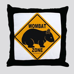 Wombat Zone Throw Pillow