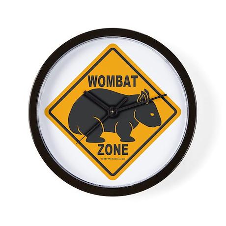 Wombat Zone Wall Clock