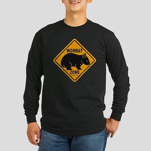Wombat Zone Long Sleeve Dark T-Shirt