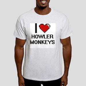 I love Howler Monkeys Digital Design T-Shirt