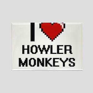 I love Howler Monkeys Digital Design Magnets
