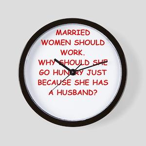 married Wall Clock