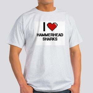 I love Hammerhead Sharks Digital Design T-Shirt