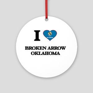 I love Broken Arrow Oklahoma Ornament (Round)