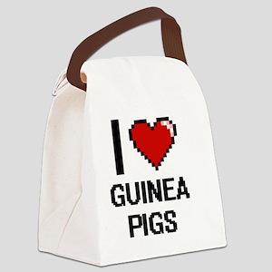 I love Guinea Pigs Digital Design Canvas Lunch Bag