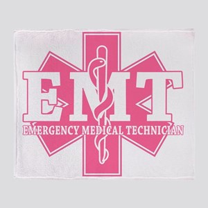 Pink EMT Throw Blanket