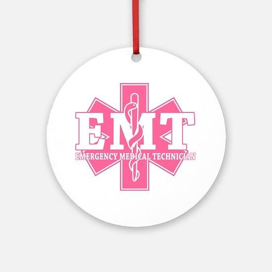Pink EMT Round Ornament