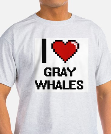 I love Gray Whales Digital Desi T-Shirt