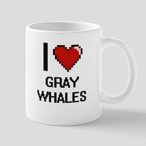 I love Gray Whales Digital Design Mugs