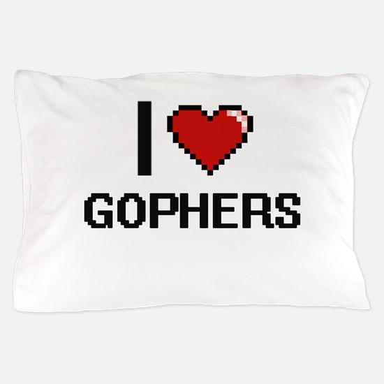 I love Gophers Digital Design Pillow Case