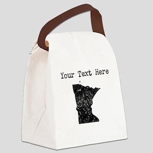 Minnesota Silhouette (Custom) Canvas Lunch Bag