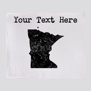 Minnesota Silhouette (Custom) Throw Blanket