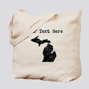 Michigan Silhouette (Custom) Tote Bag
