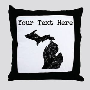 Michigan Silhouette (Custom) Throw Pillow
