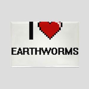 I love Earthworms Digital Design Magnets