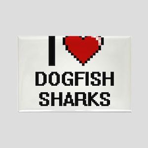 I love Dogfish Sharks Digital Design Magnets