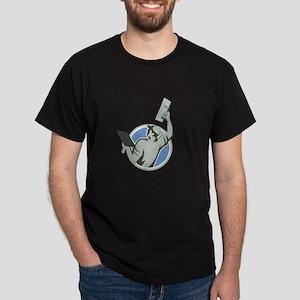 Plasterer Masonry Trowel Raise Circle Retro T-Shir