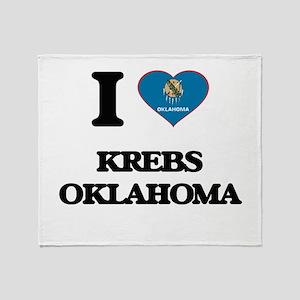 I love Krebs Oklahoma Throw Blanket