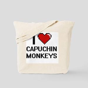 I love Capuchin Monkeys Digital Design Tote Bag