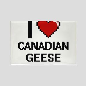 I love Canadian Geese Digital Design Magnets