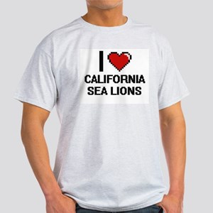 I love California Sea Lions Digital Design T-Shirt