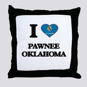 I love Pawnee Oklahoma Throw Pillow