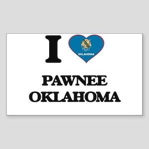 I love Pawnee Oklahoma Sticker